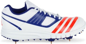5b3ee4f65f4 Adidas HOWZATT SPIKE Men Cricket Shoes Blue Red White Best Price in ...