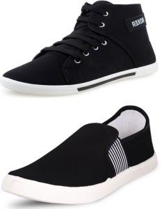 f12346638ec94 SCATCHITE BOXER LASTO Canvas Shoes Black Best Price in India ...