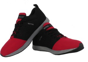 reputable site 589f2 7e417 SEGA Extro Running Shoes ( Black Red )