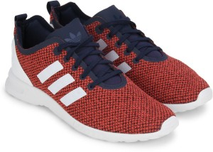 ee36981e3 Adidas Originals ZX FLUX ADV SMOOTH W Sneakers Orange Navy Best ...