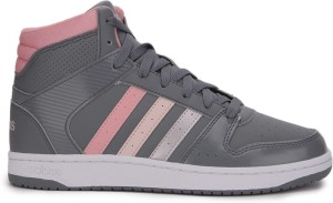 best authentic fcc5d bae96 Adidas Neo VS HOOPSTER MID W Mid Ankle SneakersGrey, Pink