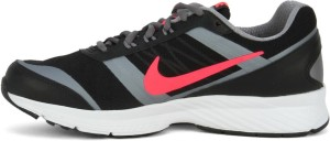 Nike AIR RELENTLESS 5 MSL Men Running Shoes Black Grey Pink White ... 153c8ec4e