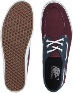 164c651cdb5cbf VANS CHAUFFEUR SF Boat Shoes Maroon Best Price in India