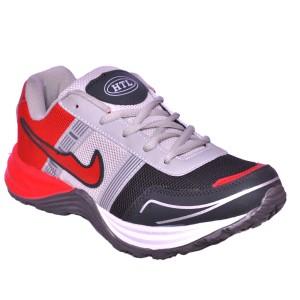 Hitcolus Dark Grey Red Running Shoes