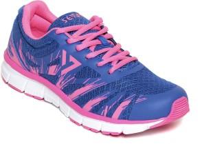 Seven Maverick Nautical Blue Neon Pink For Women Running Shoes