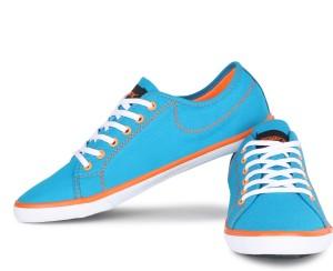 1ca21d0416 Sparx 283 Canvas Shoes Blue Orange Best Price in India