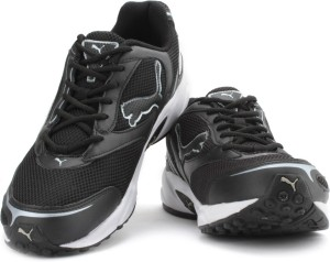 94a7cd6095403a Puma Aron DP Men Running Shoes Black Silver Best Price in India ...