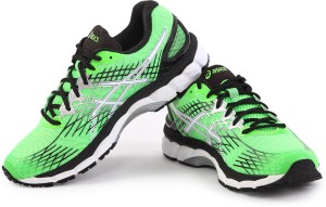 buy online ed2ad 4d6eb Asics Gel-Nimbus 17 Men Running ShoesGreen, White, Black