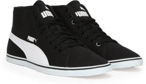 Puma Elsu v2 Mid CV IDP Mid Ankle Sneakers Black Best Price in India ... 26efdee20