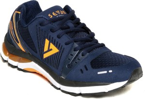Seven Poseidon Patriot Blue Orange Peal Running Shoes