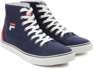 6c0ec6251 Fila DELTA Mid Ankle Canvas Shoes Blue Red Best Price in India ...