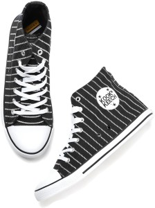 38fe738967e Kook N Keech Sneakers Black White Best Price in India