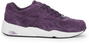 best authentic f9a61 bad6a Puma R698 Allover Suede Men Mid Ankle SneakerBlack, Purple, White