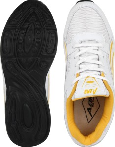 3ac08f39a09f10 Aero AMG Performance Running Shoes White Yellow Best Price in India ...