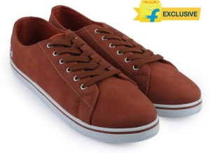 887a5abaf97 Flying Machine Synthetic Leather Sneakers ( Red White )