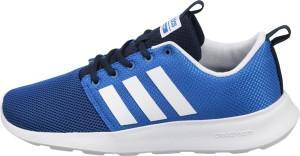 adidas neo men's cloudfoam swift racer cblack and ftwwht grey sneakers