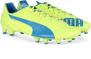 Puma evoSPEED 1 4 FG Men Football Studs Blue White Yellow Best Price ... 950177d7e