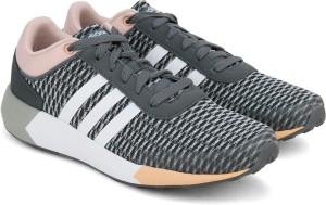 Adidas Neo Cloudfoam Corsa W Scarpe Rosa Bianco Miglior Prezzo In Grigio