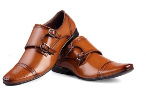 Bxxy British Double Monk Shoe Monk Strap Tan Best Price In India