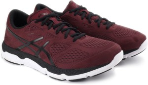 f3bcbddb304 Asics Gel Galaxy 8 Men Running Shoes Black Maroon Best Price in ...