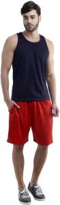 Dee Mannequin Self Design Men's Red Sports Shorts