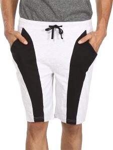 Vestonice Solid Men's White Night Shorts