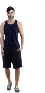 Dee Mannequin Self Design Men's Black Sports Shorts