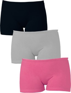 Softrose Solid Women's Black, Grey, Pink Sports Shorts