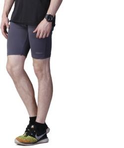 Athena Solid Men's Grey Gym Shorts