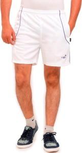 Vego Self Design Men's White Sports Shorts