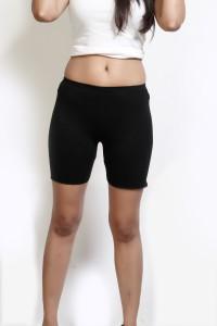 Design Classics Solid Women's Black Boxer Shorts
