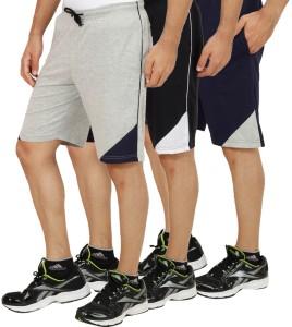 Christy World Solid Men's Multicolor Basic Shorts