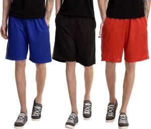 Dee Mannequin Solid Men's Red, Blue, Black Basic Shorts
