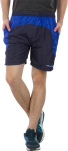 Burdy Solid Men's Dark Blue Sports Shorts