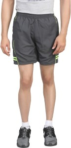 Trendy Trotters Solid Men's Grey Sports Shorts