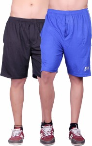 Gag Wear Solid Men's Blue, Black Sports Shorts