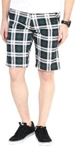 3 Concept Checkered Men's Multicolor Basic Shorts