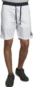 Beevee Solid Men's White Beach Shorts, Gym Shorts, Running Shorts