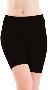 Fashion Line Solid Women's Black Cycling Shorts