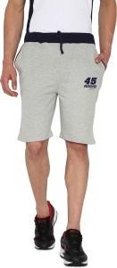Rodid Solid Men's Grey Sports Shorts