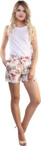Belle Fille Floral Print Women's Multicolor Basic Shorts