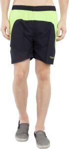 Burdy Solid Men's Black Running Shorts