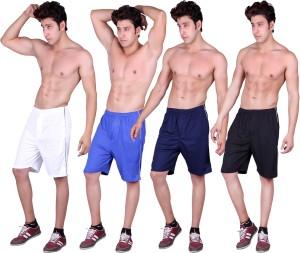 Gag Wear Solid Men's White, Dark Blue, Blue, Black Sports Shorts