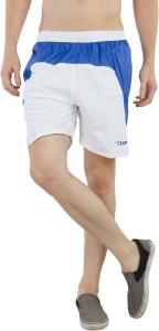 Burdy Solid Men's White Running Shorts