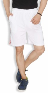 Live In Solid Men's White Sports Shorts