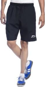 Shiv Naresh Solid Men's Black Running Shorts