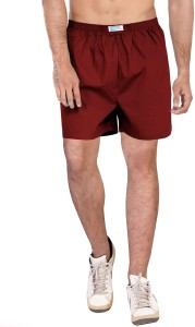 Wear Your Opinion Solid Men's Maroon Boxer Shorts