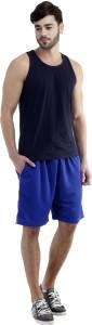 Dee Mannequin Self Design Men's Blue Sports Shorts
