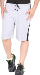 Checkers Bay Solid Men's Grey Sports Shorts