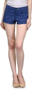 Being Fab Printed Women's Multicolor Hotpants